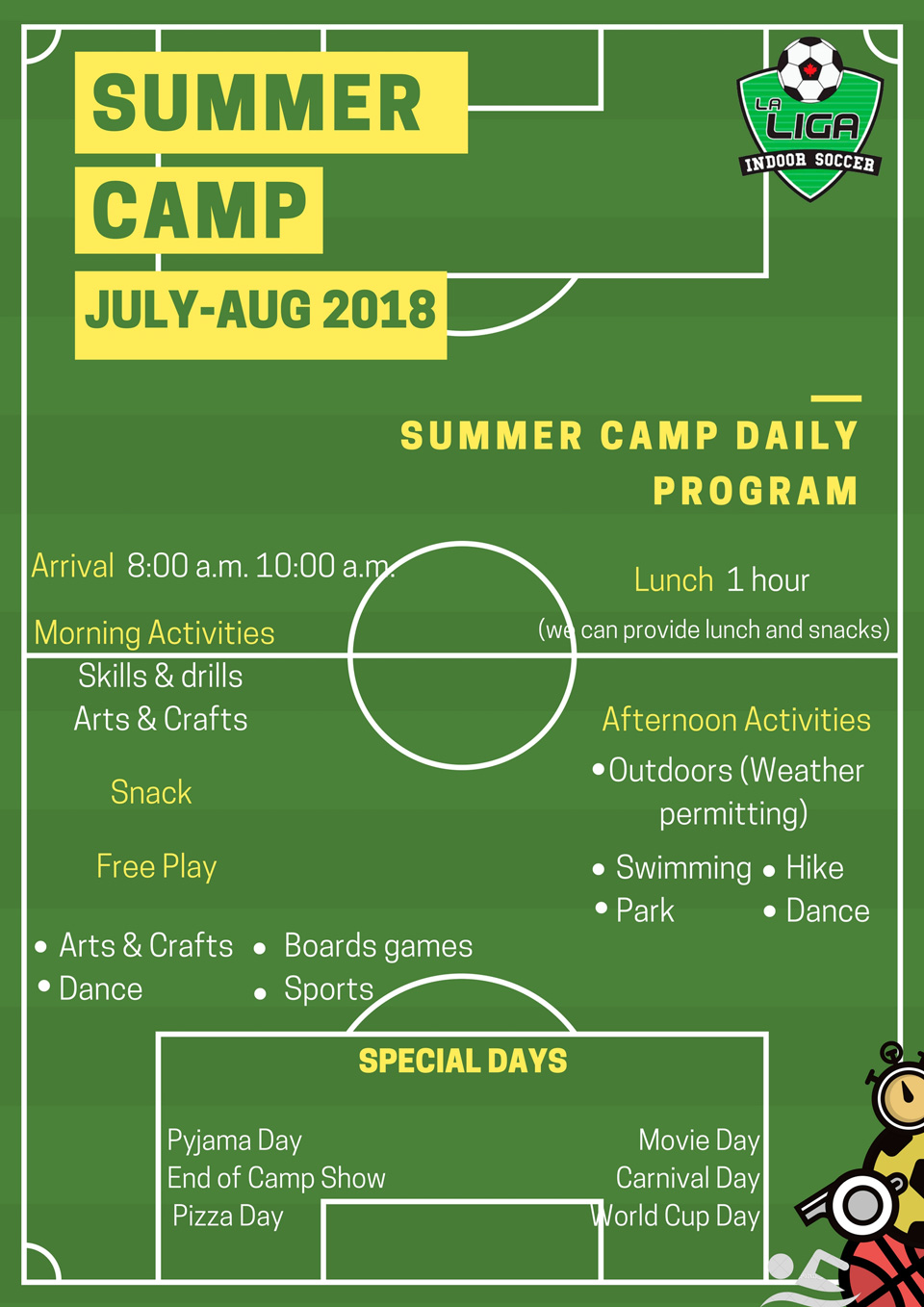 Summer Camp 2018 Schedule